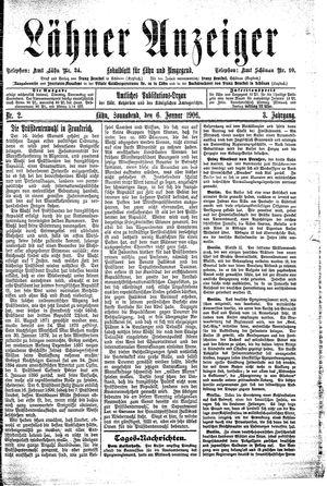 Lähner Anzeiger vom 06.01.1906