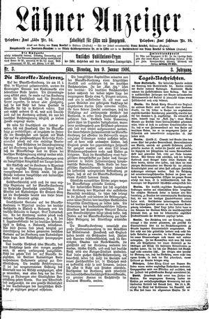 Lähner Anzeiger vom 09.01.1906