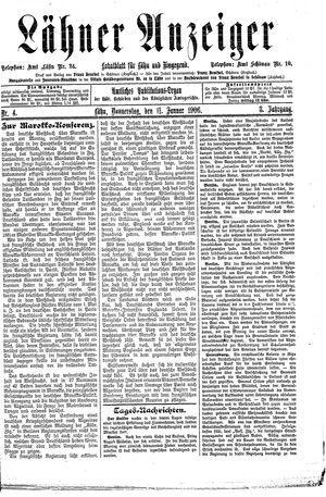 Lähner Anzeiger vom 11.01.1906
