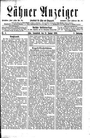 Lähner Anzeiger vom 13.01.1906
