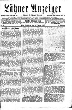 Lähner Anzeiger vom 20.01.1906