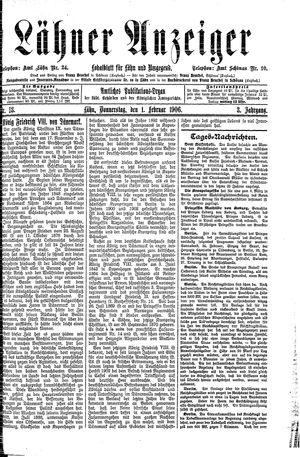 Lähner Anzeiger vom 01.02.1906