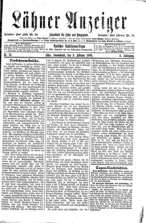 Lähner Anzeiger vom 03.02.1906