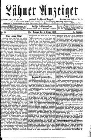 Lähner Anzeiger vom 06.02.1906