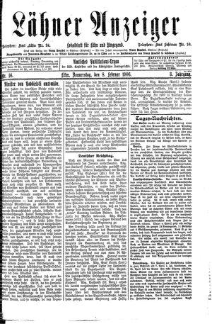 Lähner Anzeiger on Feb 8, 1906