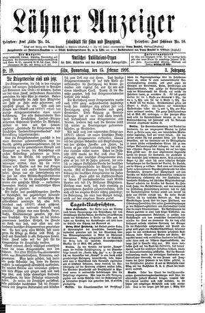 Lähner Anzeiger vom 15.02.1906