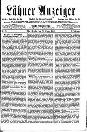 Lähner Anzeiger vom 20.02.1906