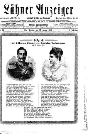 Lähner Anzeiger vom 27.02.1906