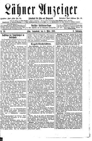 Lähner Anzeiger vom 03.03.1906