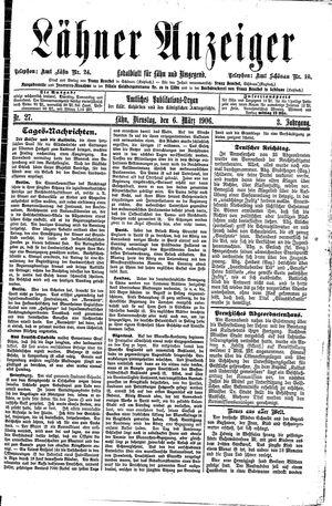 Lähner Anzeiger vom 06.03.1906