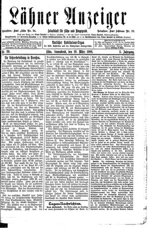 Lähner Anzeiger vom 10.03.1906