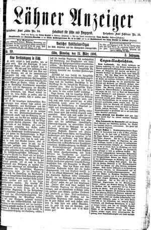 Lähner Anzeiger vom 13.03.1906