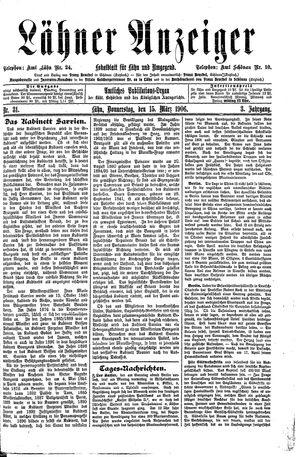 Lähner Anzeiger vom 15.03.1906