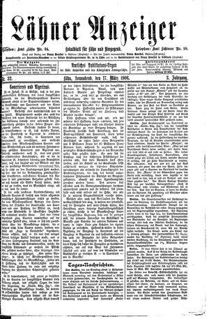 Lähner Anzeiger vom 17.03.1906