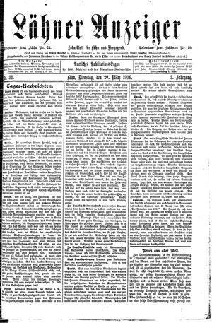 Lähner Anzeiger vom 20.03.1906
