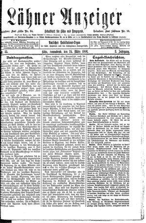 Lähner Anzeiger vom 24.03.1906