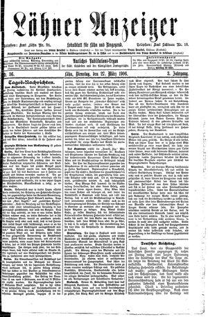 Lähner Anzeiger vom 27.03.1906
