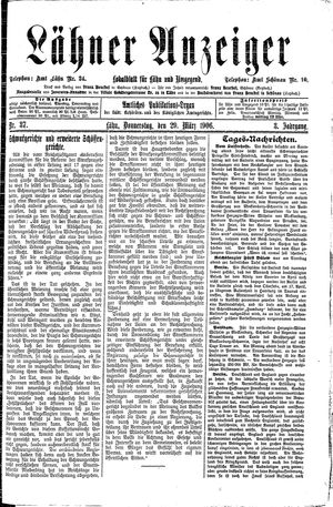 Lähner Anzeiger vom 29.03.1906