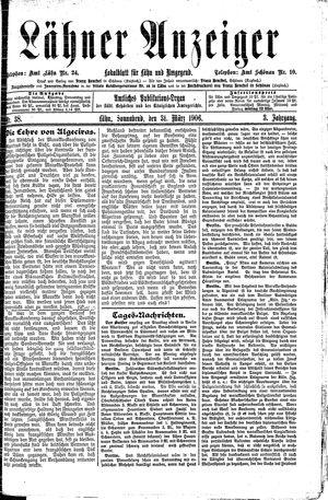 Lähner Anzeiger vom 31.03.1906