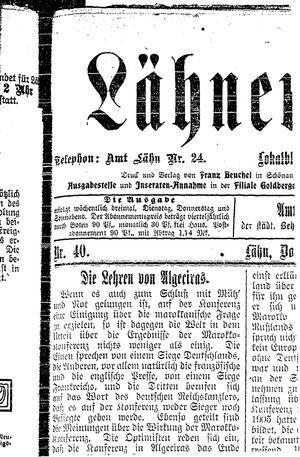 Lähner Anzeiger on Apr 5, 1906