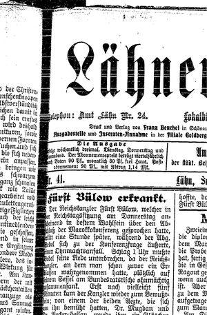 Lähner Anzeiger vom 07.04.1906