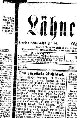 Lähner Anzeiger vom 10.04.1906