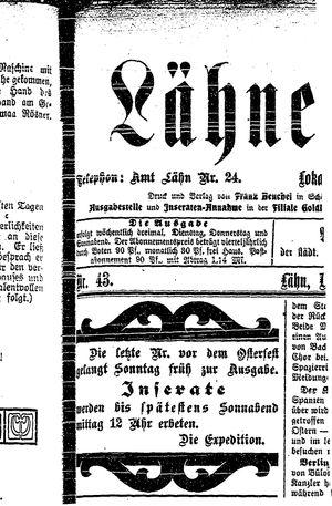 Lähner Anzeiger vom 12.04.1906