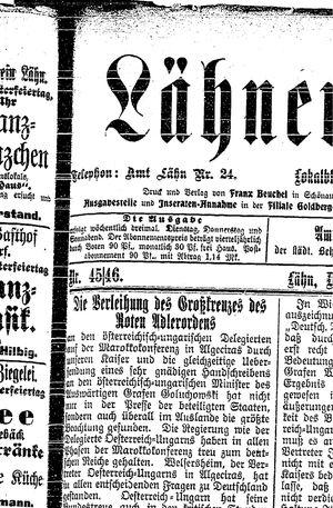 Lähner Anzeiger vom 19.04.1906