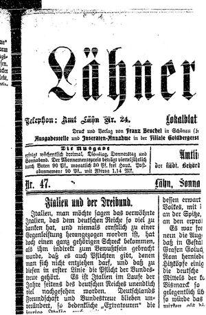 Lähner Anzeiger vom 21.04.1906