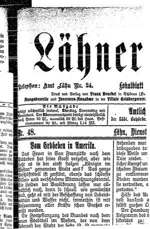 Lähner Anzeiger vom 24.04.1906