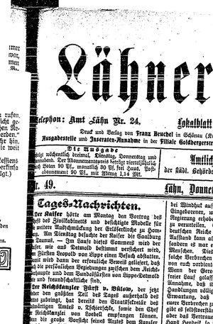 Lähner Anzeiger vom 26.04.1906