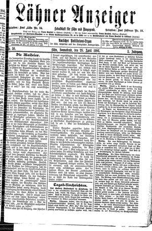 Lähner Anzeiger vom 28.04.1906