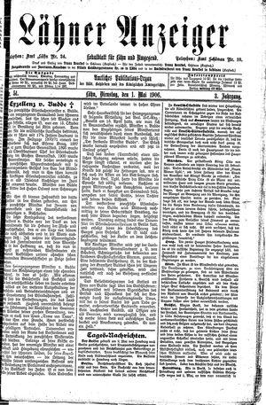 Lähner Anzeiger vom 01.05.1906