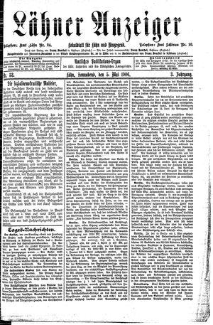 Lähner Anzeiger vom 05.05.1906