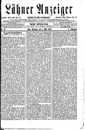Lähner Anzeiger vom 08.05.1906