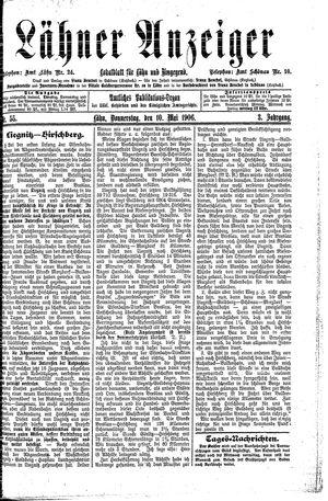 Lähner Anzeiger vom 10.05.1906