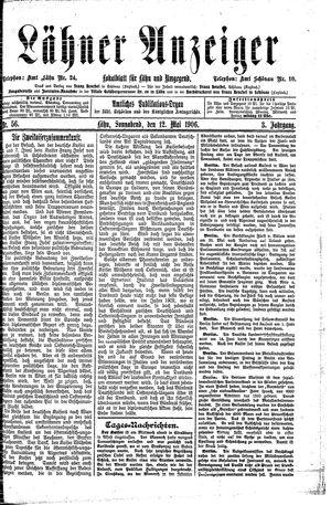 Lähner Anzeiger vom 12.05.1906