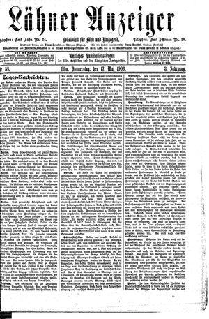 Lähner Anzeiger vom 17.05.1906