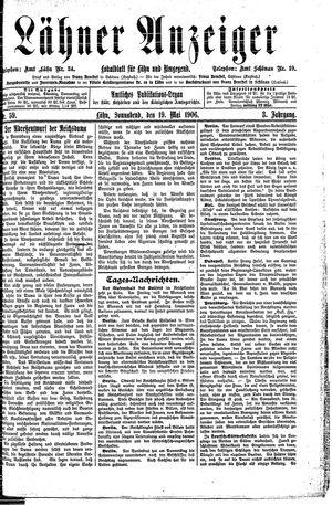 Lähner Anzeiger vom 19.05.1906