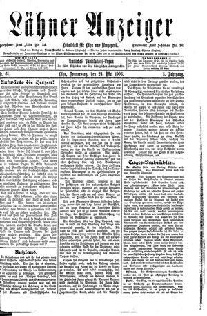 Lähner Anzeiger vom 24.05.1906