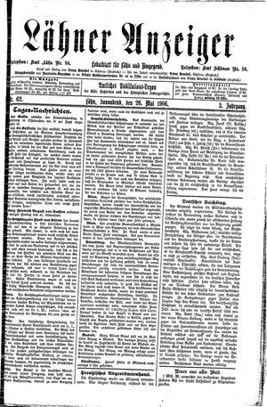 Lähner Anzeiger on May 26, 1906