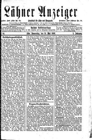 Lähner Anzeiger vom 31.05.1906