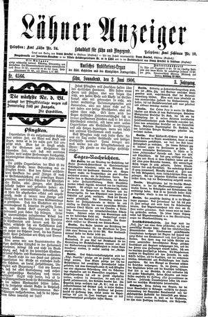 Lähner Anzeiger vom 02.06.1906