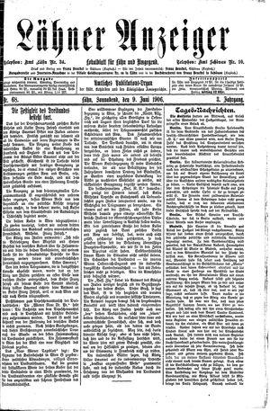 Lähner Anzeiger vom 09.06.1906