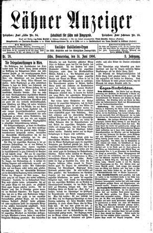 Lähner Anzeiger vom 14.06.1906