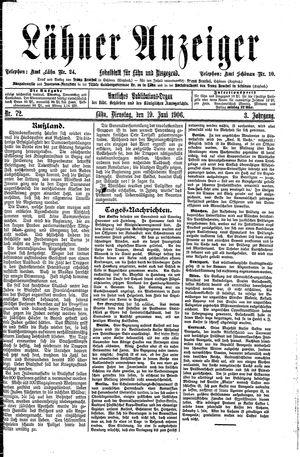 Lähner Anzeiger vom 19.06.1906