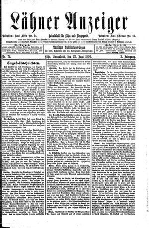 Lähner Anzeiger vom 23.06.1906