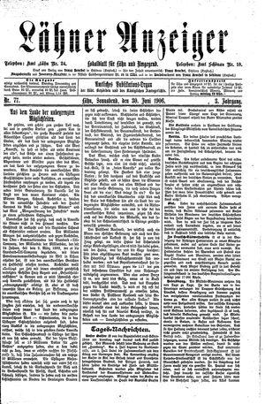 Lähner Anzeiger vom 30.06.1906