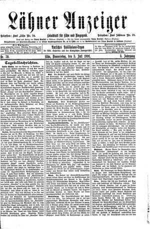 Lähner Anzeiger vom 05.07.1906