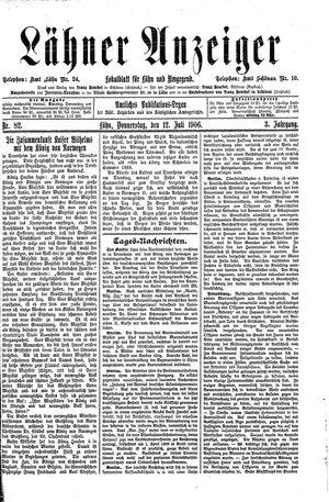 Lähner Anzeiger vom 12.07.1906